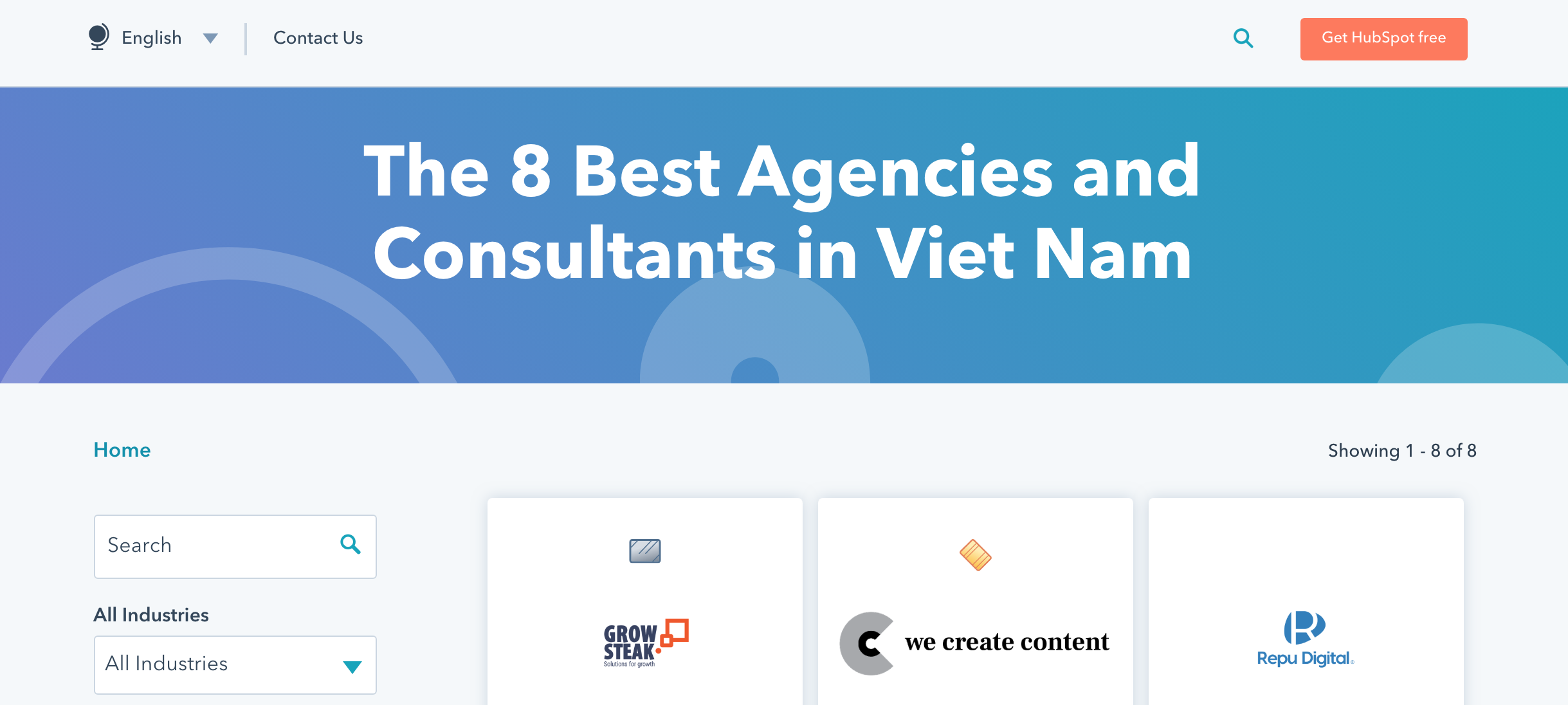 We Create Content listed as Gold Partner in the HubSpot Agency Directory