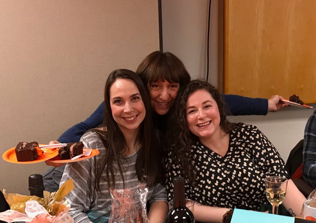 Northwest Advocacy Foundation Executive Directors Elena Yager (left) and Jessica Lewis (right) with Eastside Legal Assistance Program Managing Attorney Juanita Cope (center).