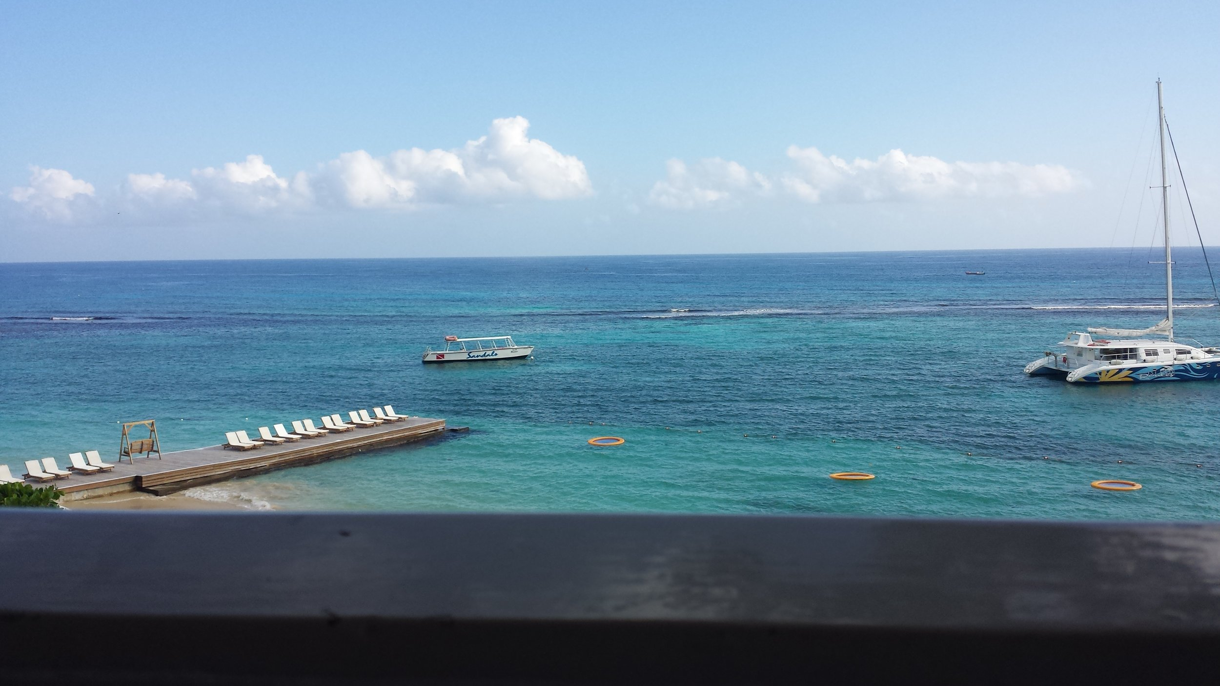 View from the Terrace at Sandals Royal Plantation Resort in Ocho Rios, Jamaica.