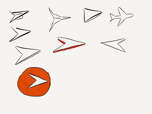 Logos: Airplanes in the sky