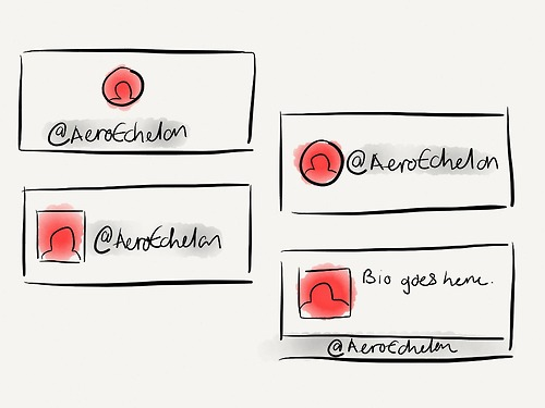 Different user card layouts