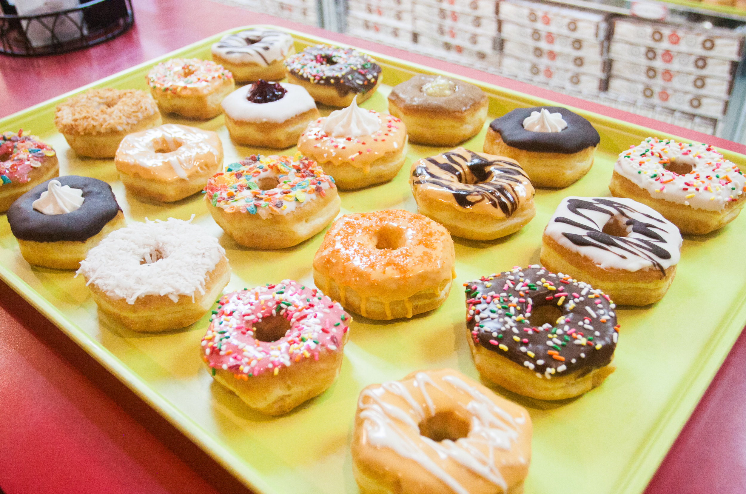 Let us cater your special occasion with a Party Tray from Fray's Donut House! Bridal and Baby showers, Birthdays and more!