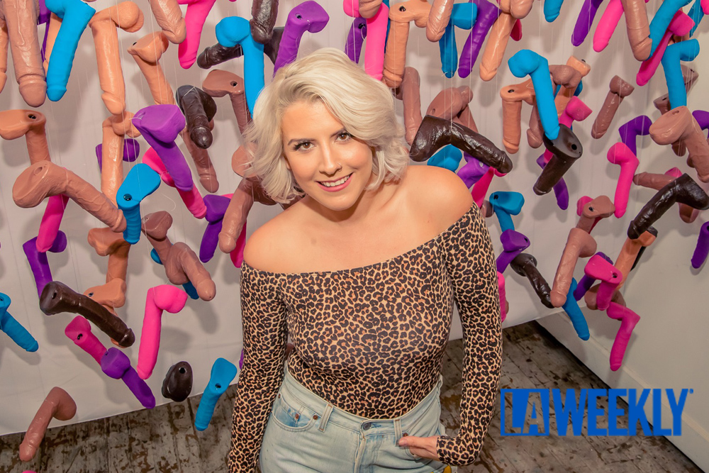 LA WEEKLY - Ballsy Women Gathered in DTLA for the Dick Pic Art Show (NSFW)