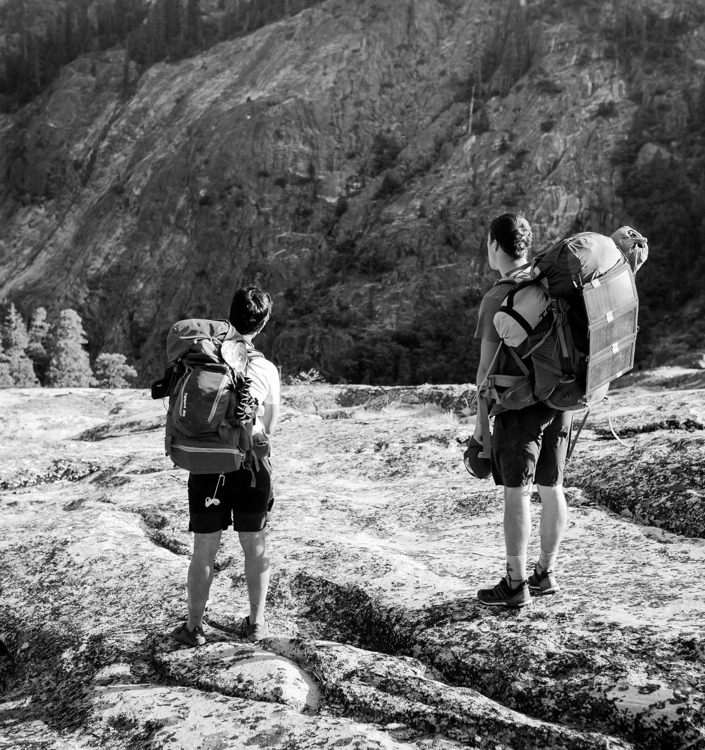 Staring down the deep canyons - Tuolumne County Yosemite adventure