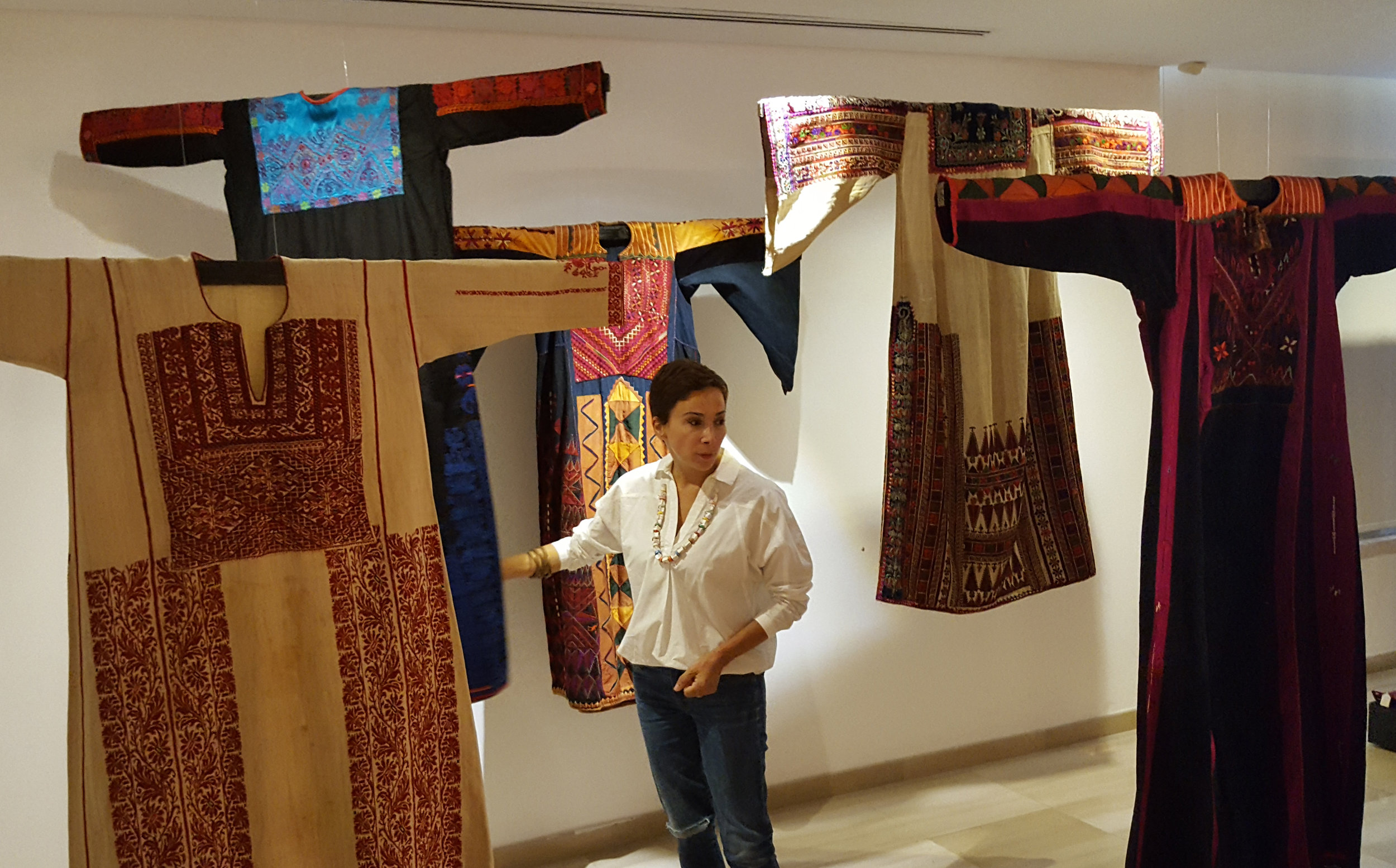 Artist/architect  Nisreen Abu Dail  at  Tiraz Center