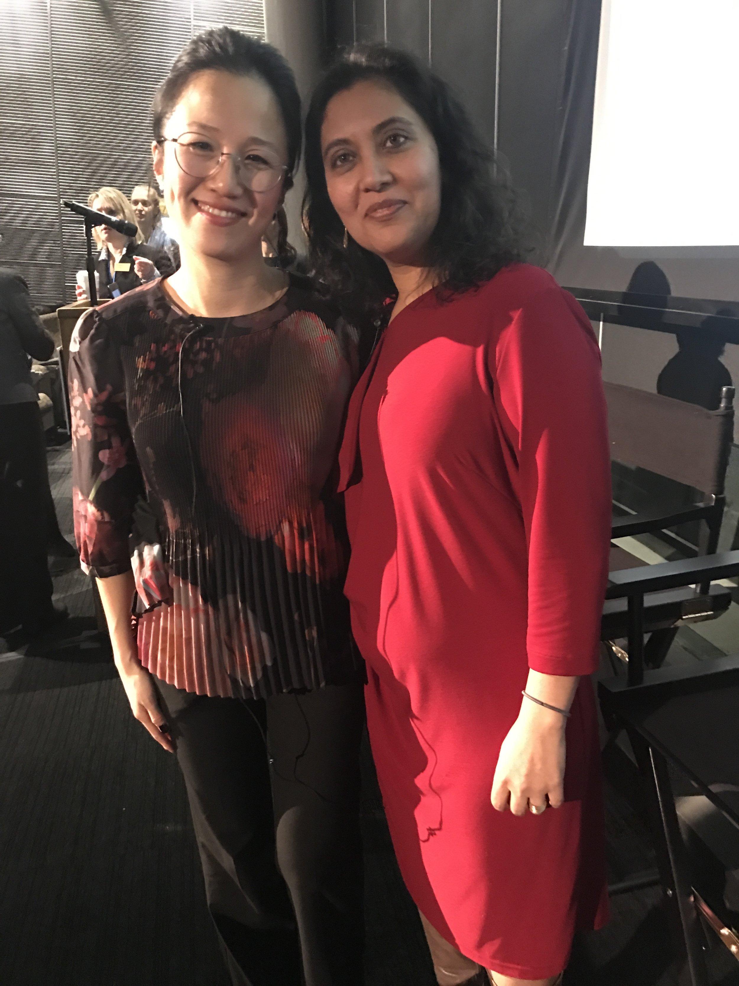Anupama Rao and Ana Paulina Lee at the conference