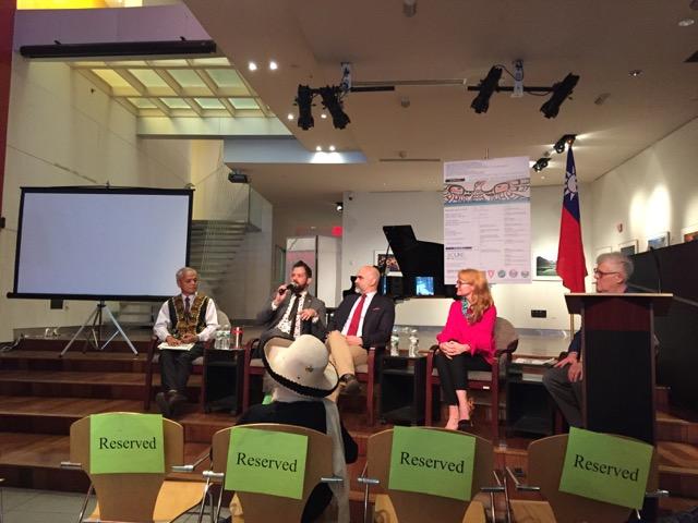 Photo caption: Paige West, pictured alongside Ambassador Ruben Escalante Hasbun, Torbors Sogluman and Angel Munoz.