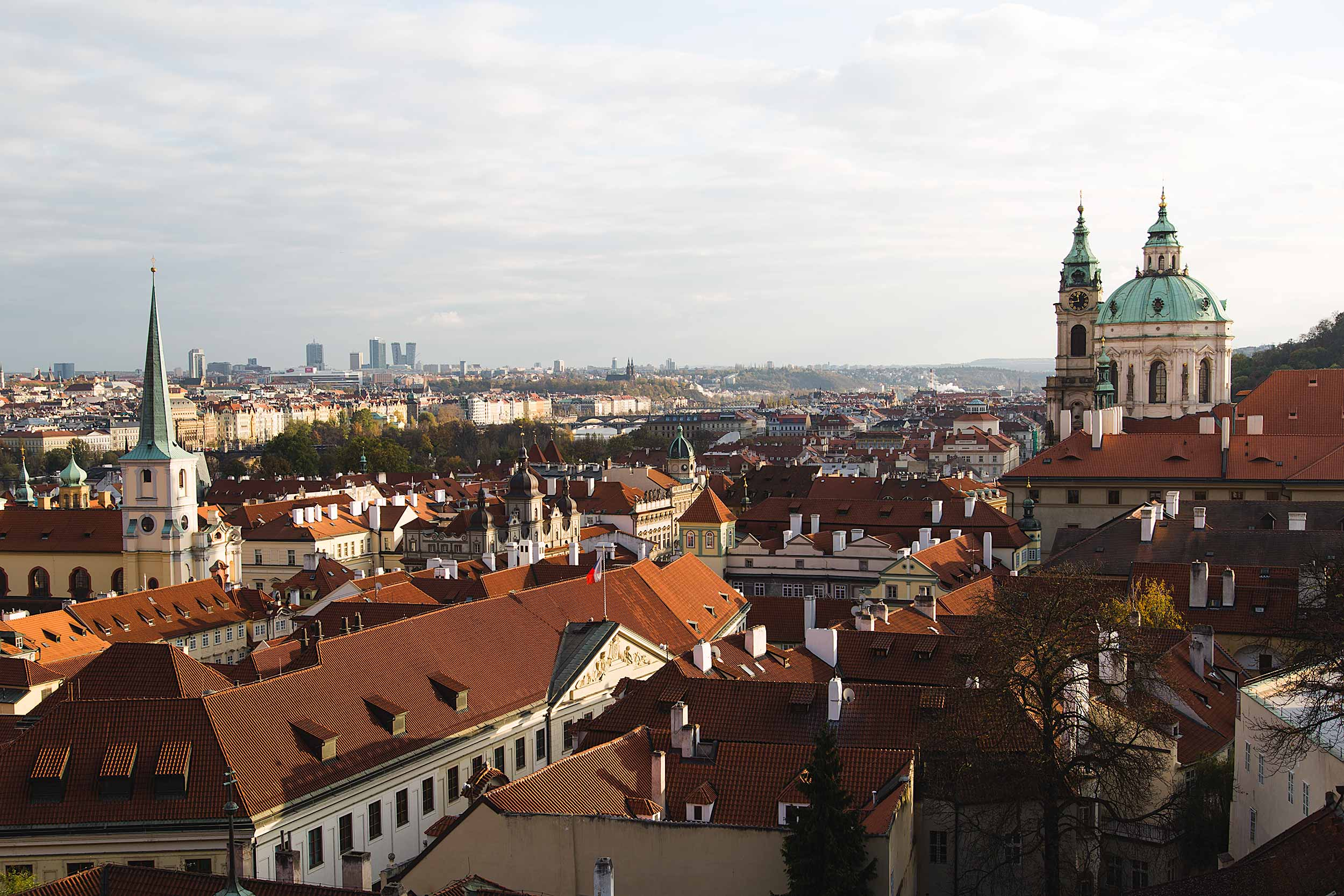 View from the South Gardens - Prague Castle