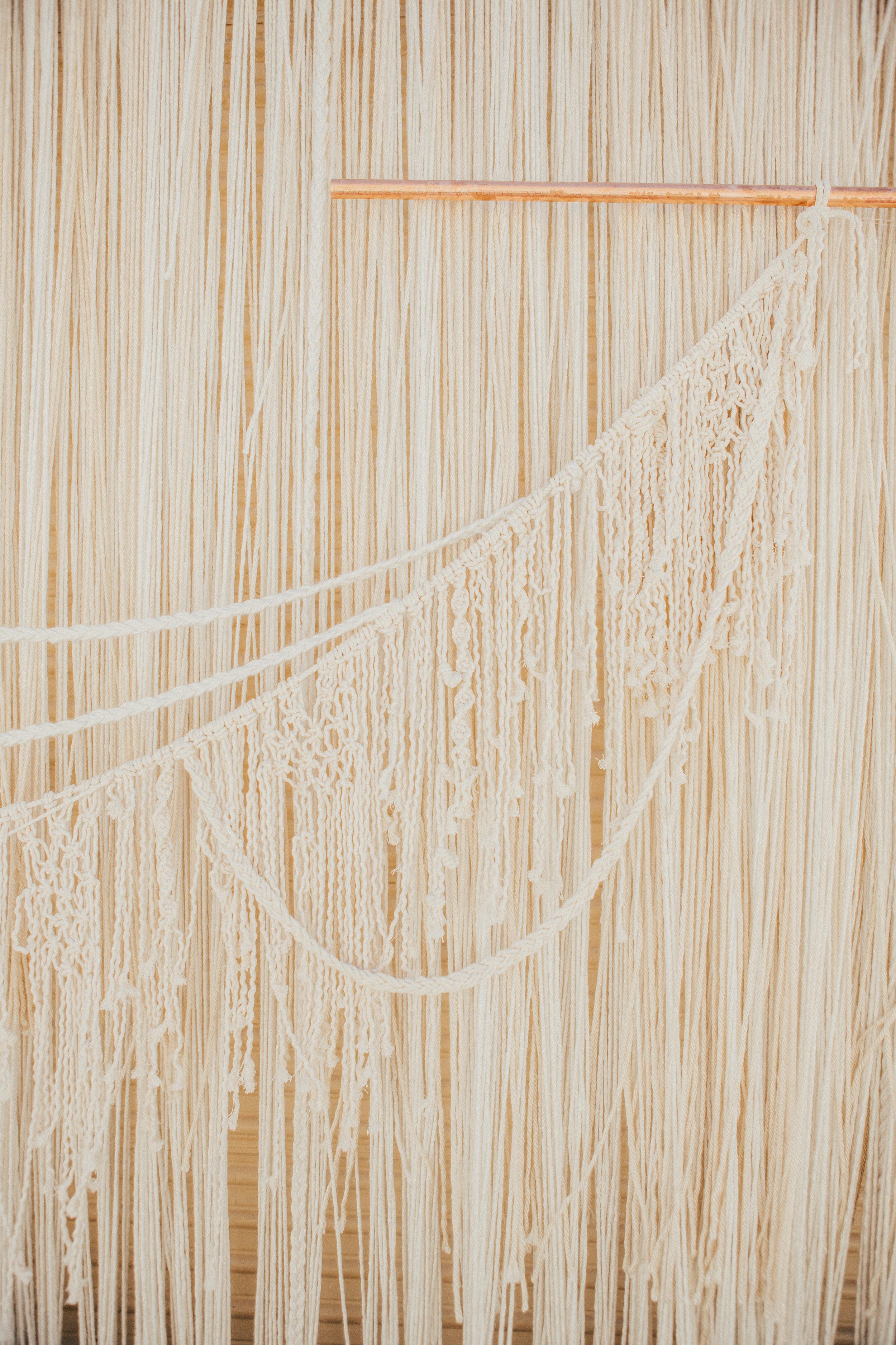 Joshua Tree Wedding Macrame | Relevant + Raw Installation | @RelevantRaw