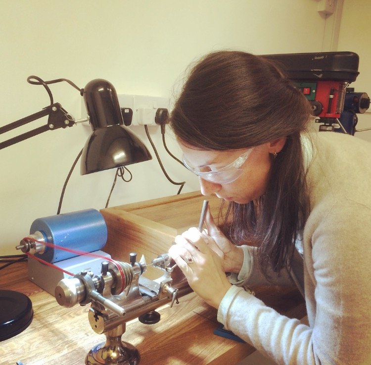 Alice Taylor - Alice started work at The Clock Work Shop in Winchester in 2012 under the guidance of the owner, Kevin Hurd.After a year of working at the bench she decided to further her knowledge by enrolling at Birmingham City University for their BA Hons Horology degree course.As part of her degree course, in her final year, Alice crafted a miniature verge bracket clock movement from her own design and was awarded a First Class Honours.She now works firmly under the guidance of Simon and continues to progress with her restoration skills.
