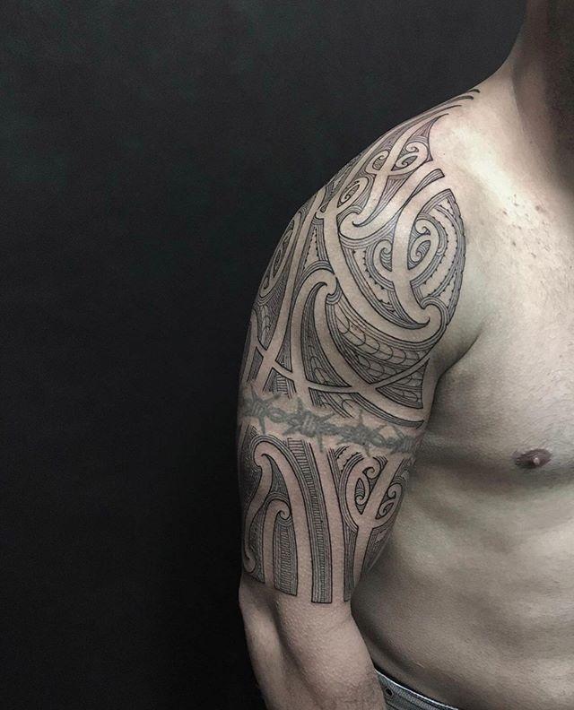 Eddie got his half sleeve sorted  ARTIST - @sleepygodtattoo . . . . . . . @metrixneedles @empireinks @electrumstencilproducts @afterart.nz #maori #maoritattoo #taamoko #maoriart #tattooideas #freehand #freehandtattoo  #skinartmag #supportgoodtattooing #tattoos_alday #tattooart #empireinks #tattoo_community #tattoolife #tattooedlife #metrixneedles #tattoosociety #empireinks #tattooaddict #electrumstencilprimer #tattoo #laneways #stasaphstreetsocialclub  #lineart #finelinetattoo #linetattoo #finelineart #linework #Christchurchtattoo #finelinetattoo