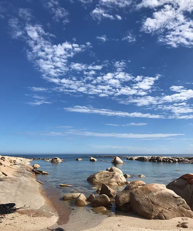 Rock pools and blue skies. #streakybay #serenity