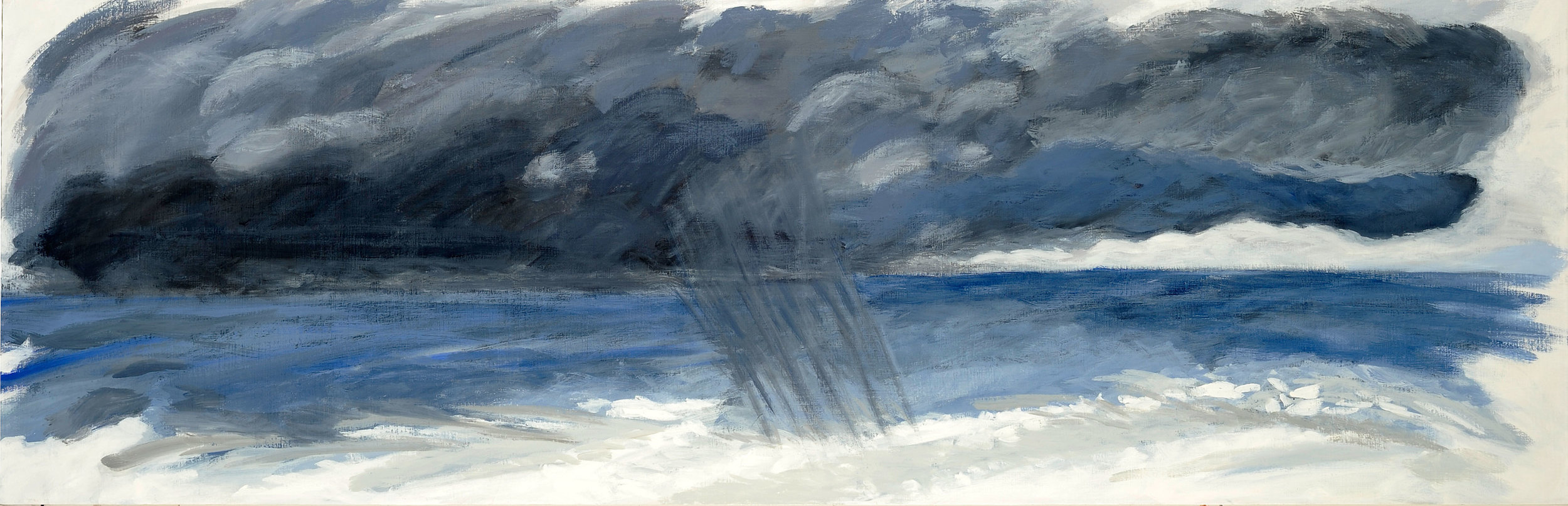 Orage bleu, hommage à Constable, 2009