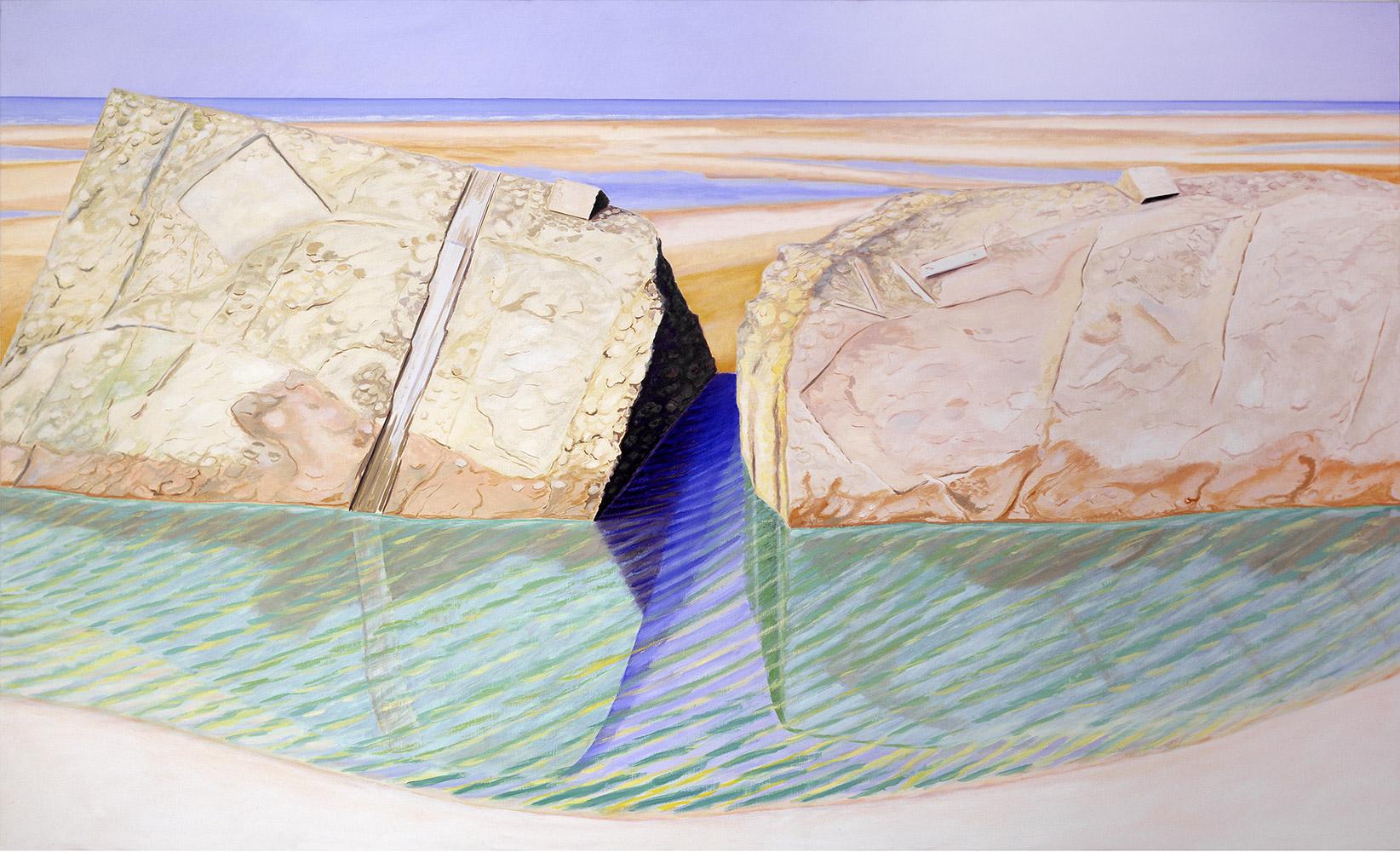 Cassure, soleil, mer, 1982