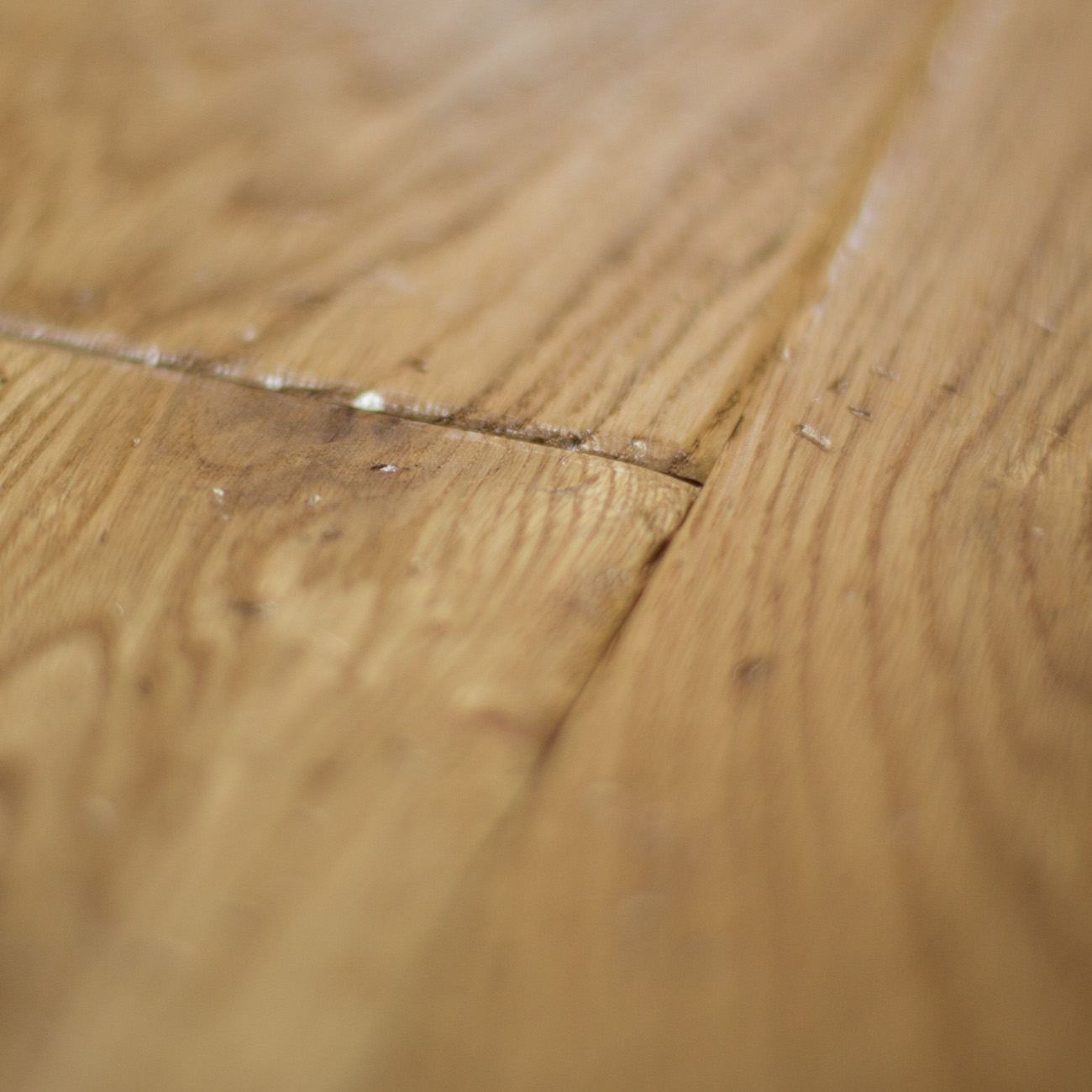 Hard oak flooring