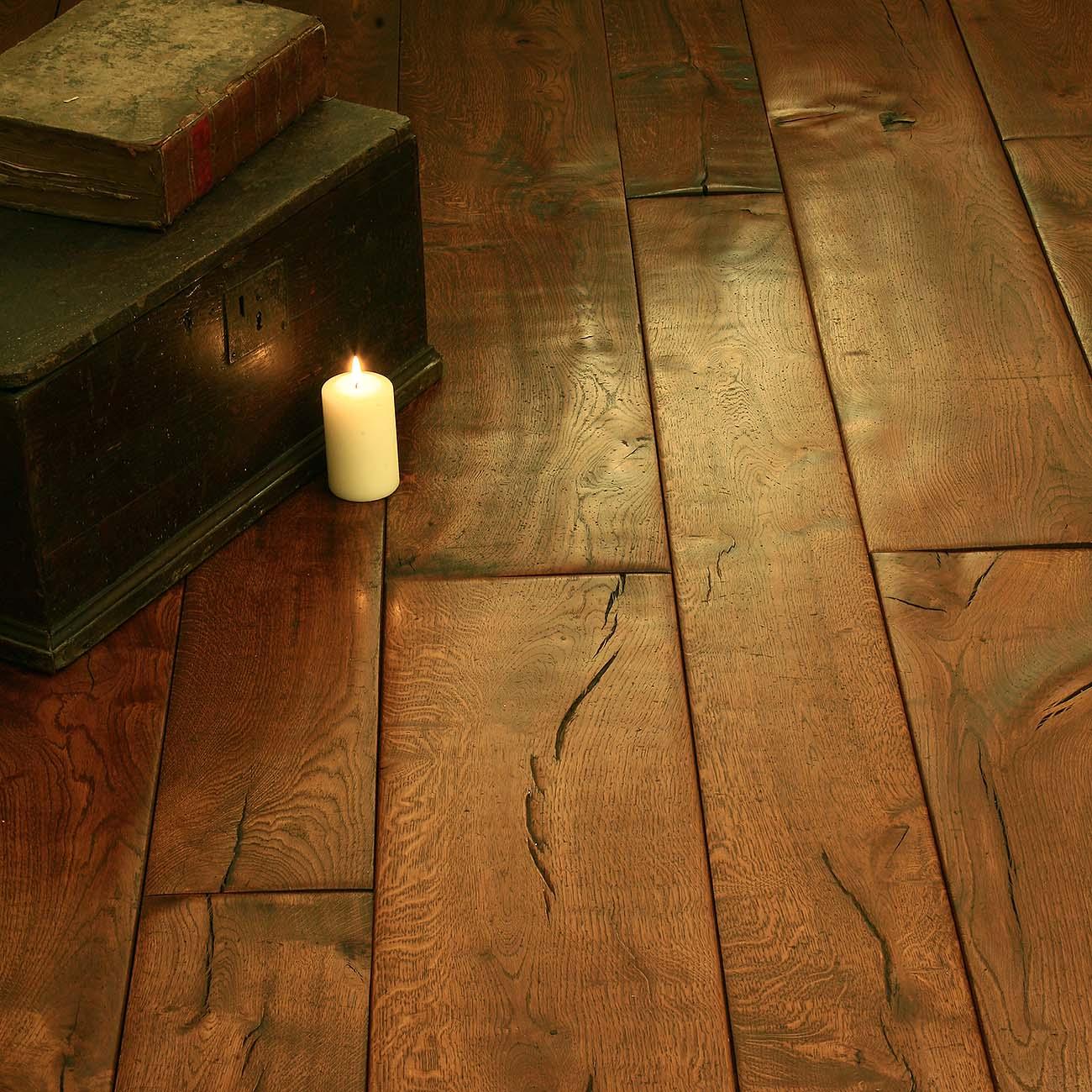 Wide wooden flooring