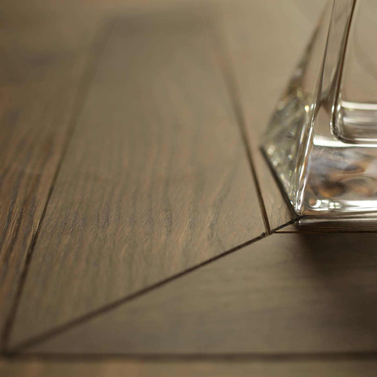 Engineered oak chevron flooring