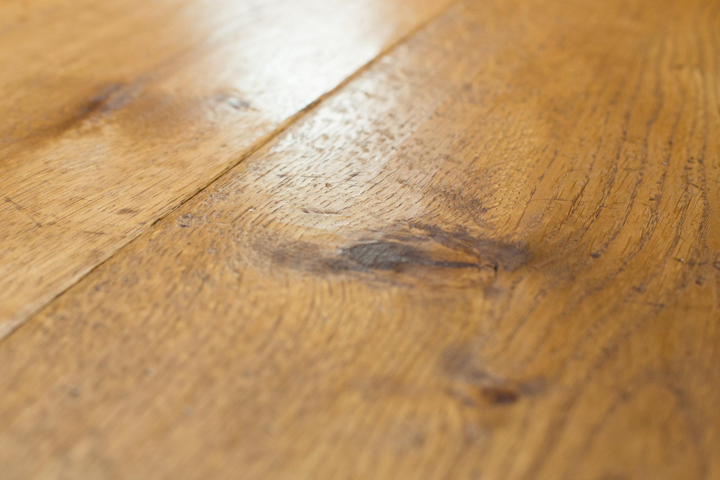 Genuine wood flooring