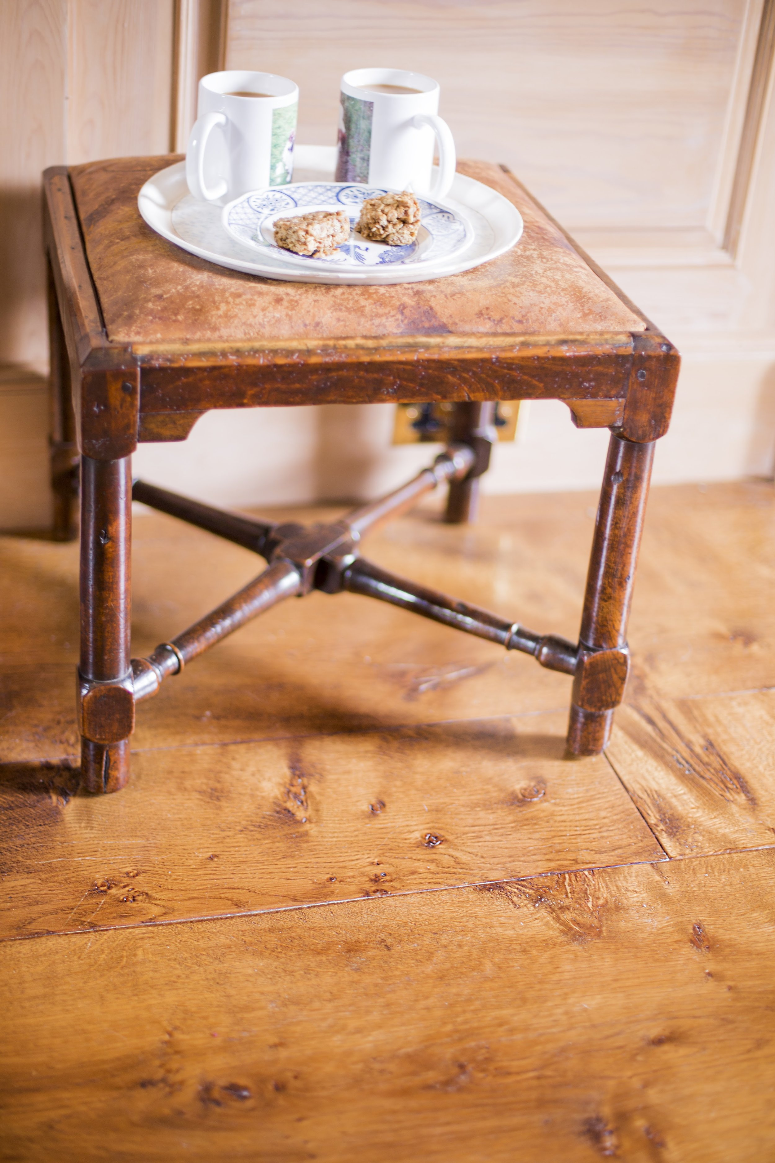 Engineered wide oak flooring