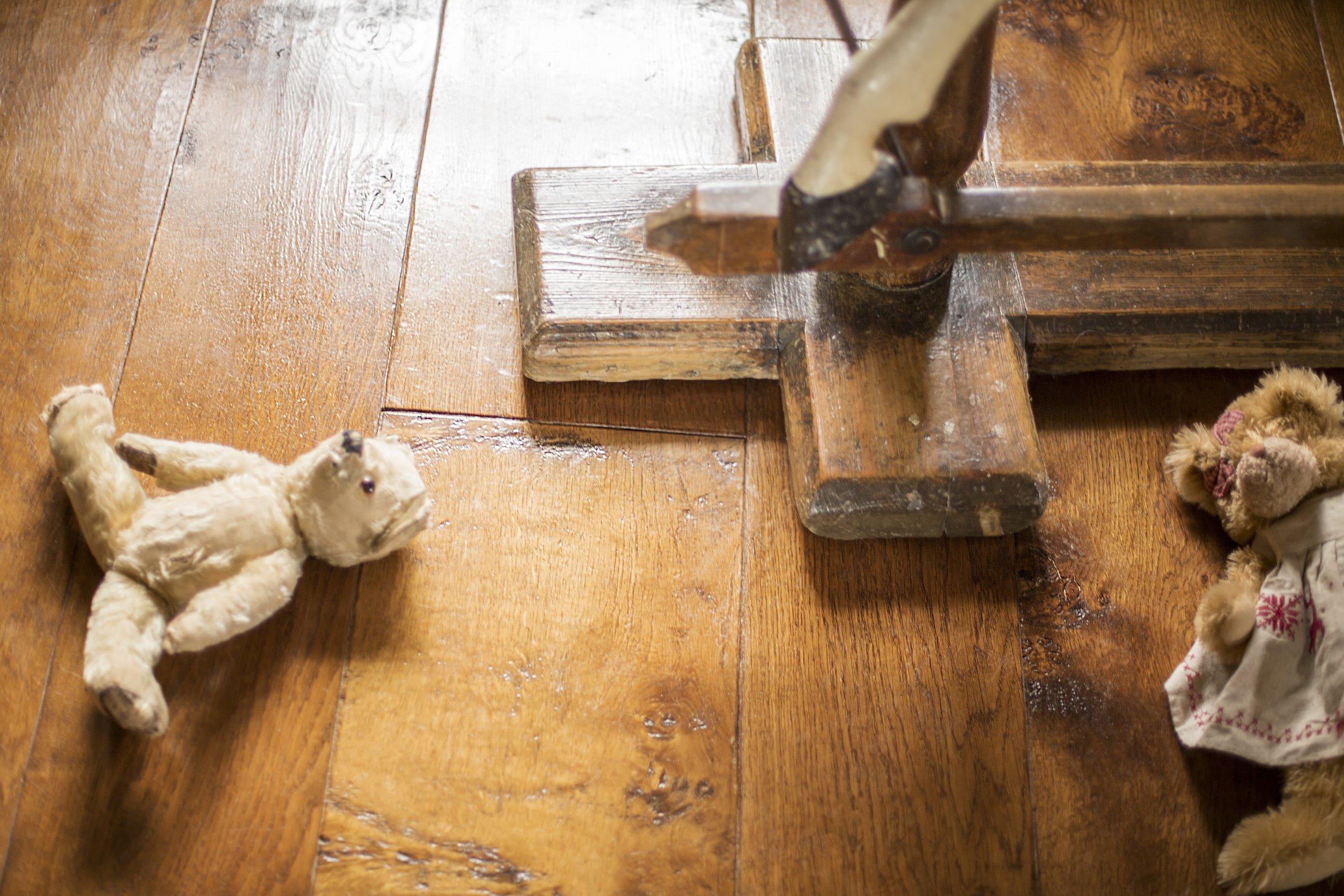 Aged wood flooring