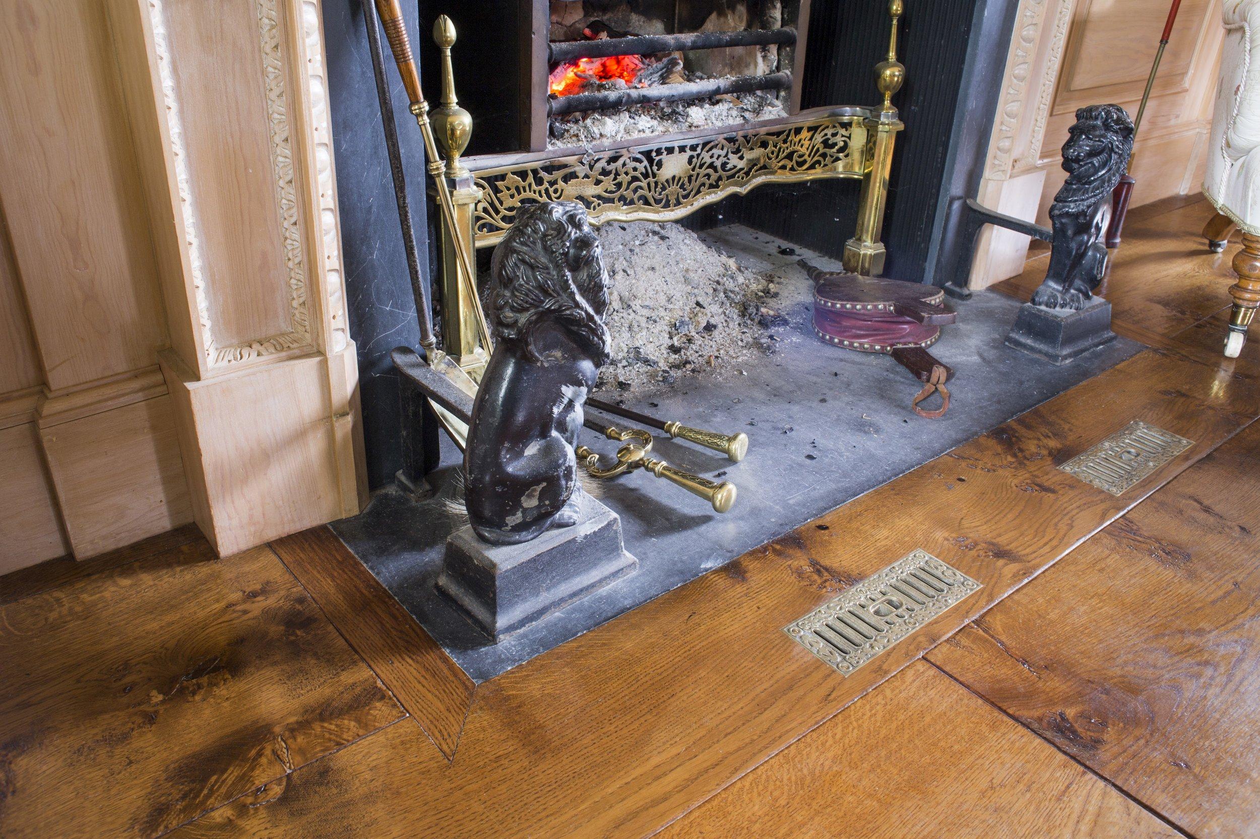 Handmade rustic wood flooring
