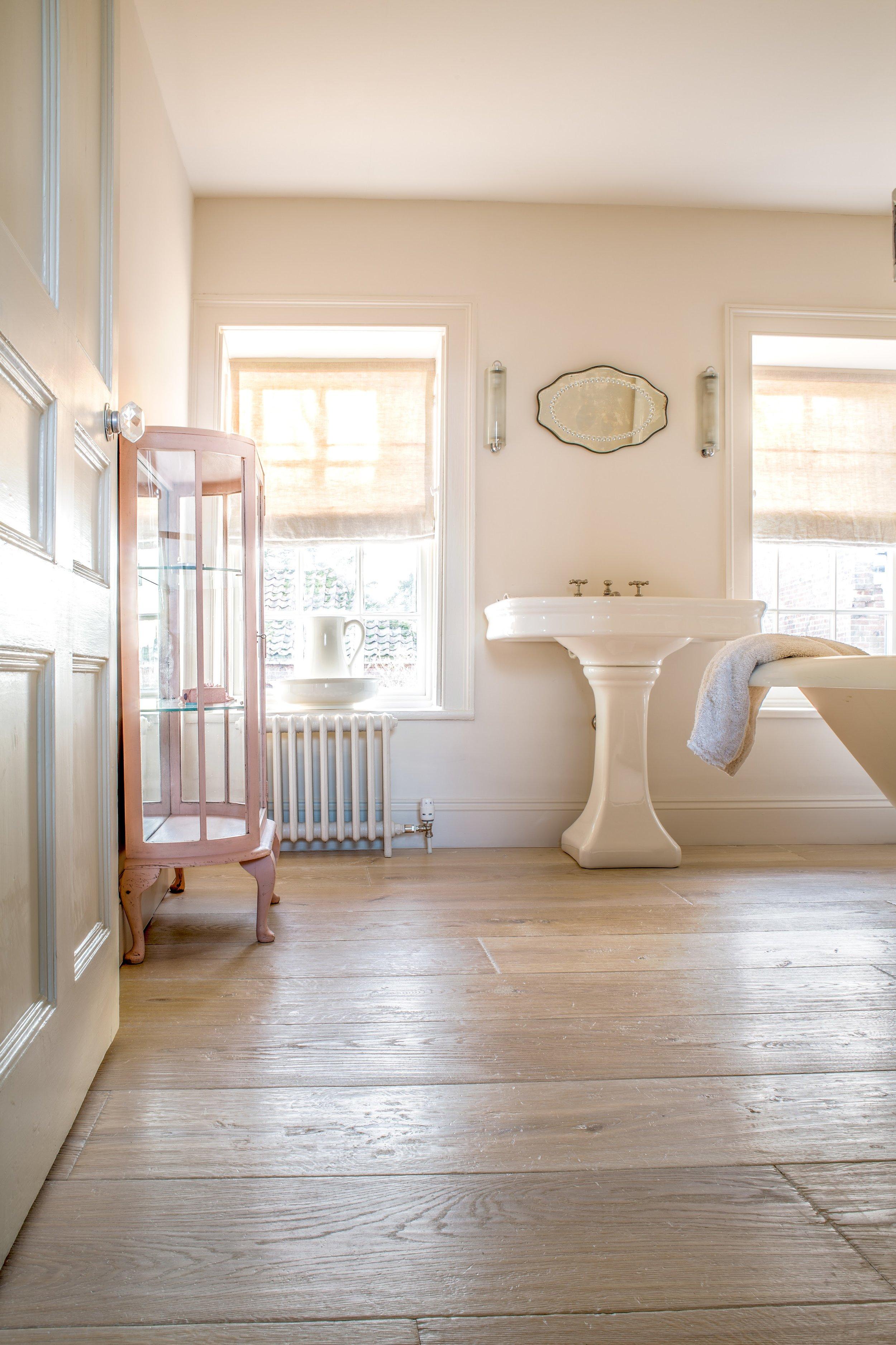 Wood floor for bathrooms