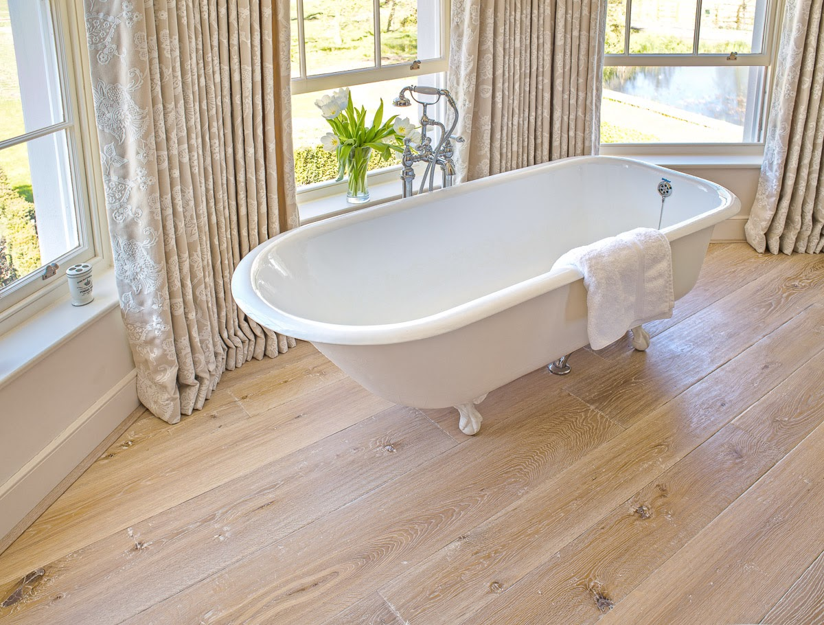 Wood floor for bathrooms