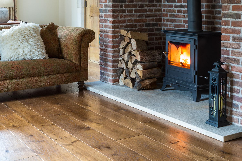 Aged wooden flooring