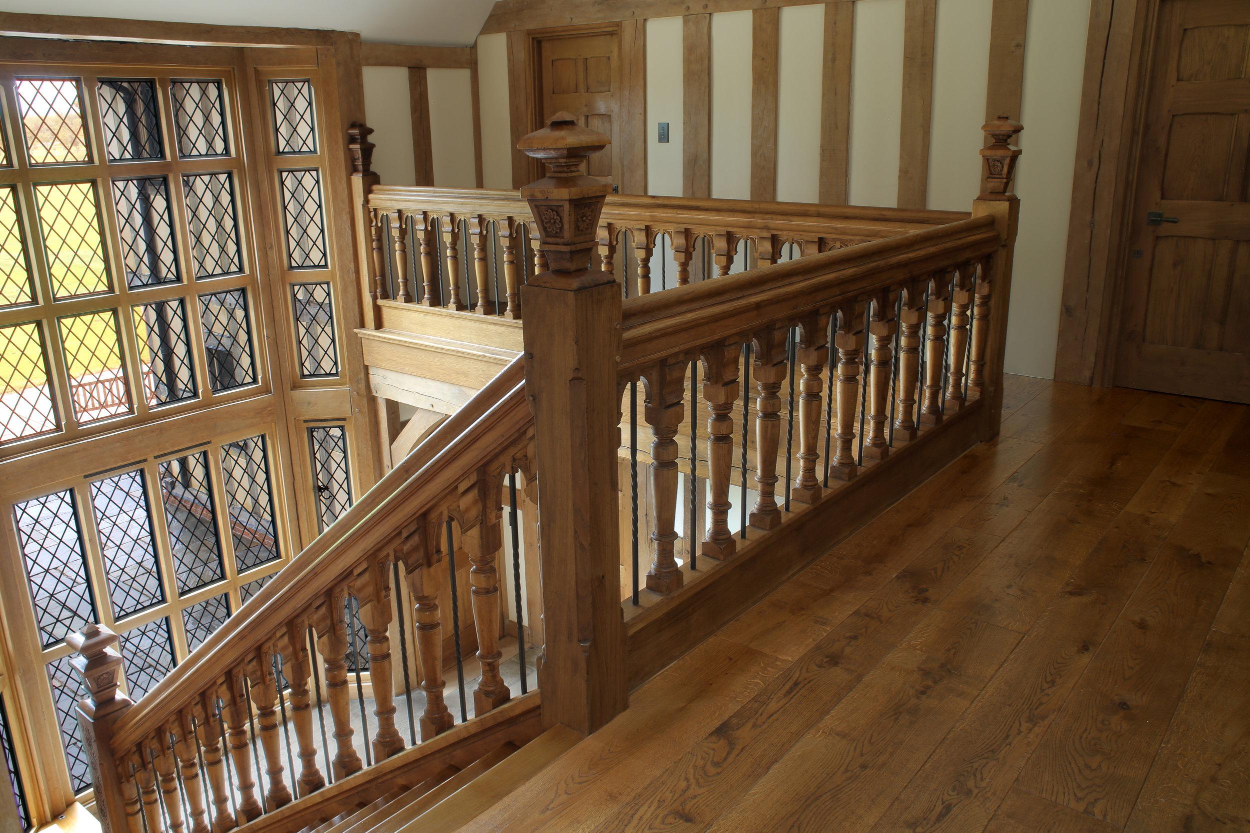 Dark oak stairs