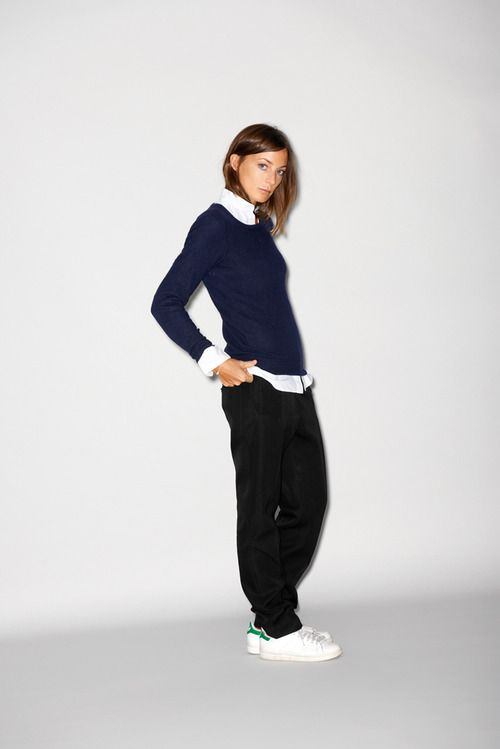 Philo looking effortlessly cool in her Stan Smiths. -