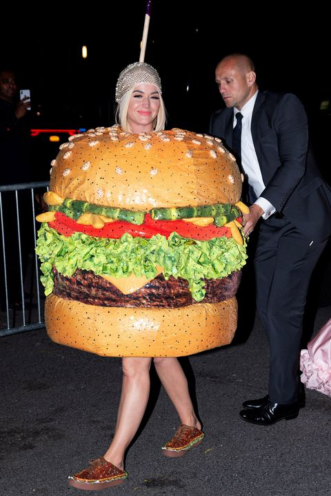 Katy was an actual Hamburger for the after party, lol -