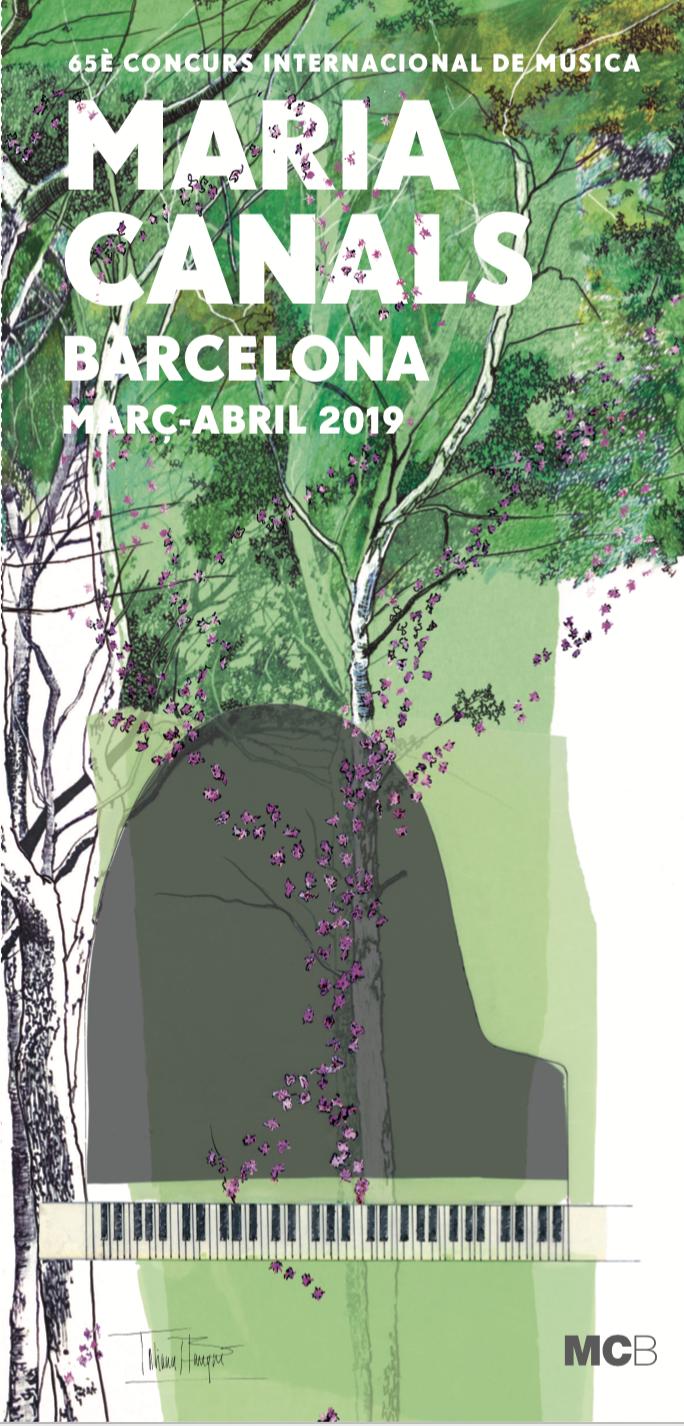 Cartel conmemorativo del 65º Concurso Internacional de Música María CanalesPalau de la Música Catalana - Barcelona - https://mariacanals.org/ca/https://www.facebook.com/mariacanalsbarcelona/
