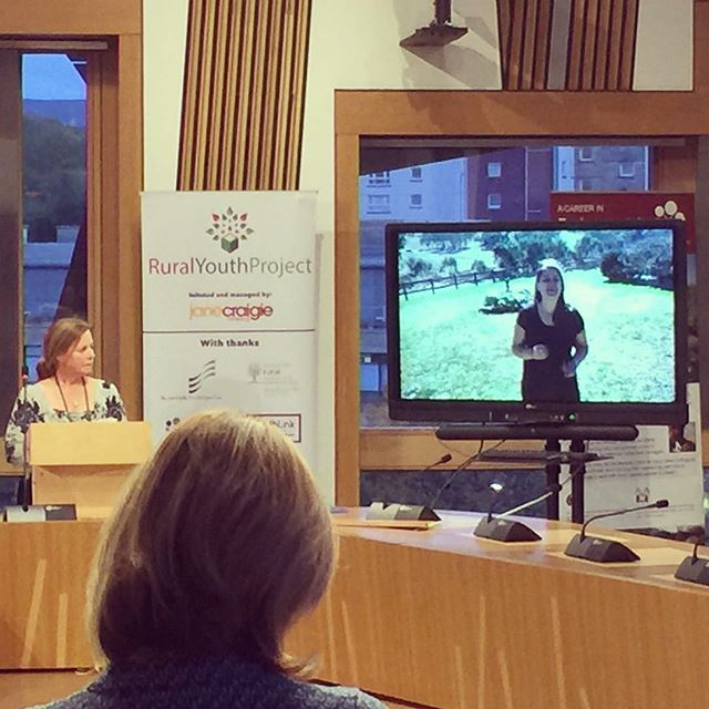 """Presenting"" to @scotparl last night about the impact of @ryp2018 and my experience at the Ideas Festival.  Congrats to the team at @jcmandco for all their hard work creating something as special as the Rural Youth Project 🌾  You can check out my presentation here: http://ow.ly/lExU30m48L1"