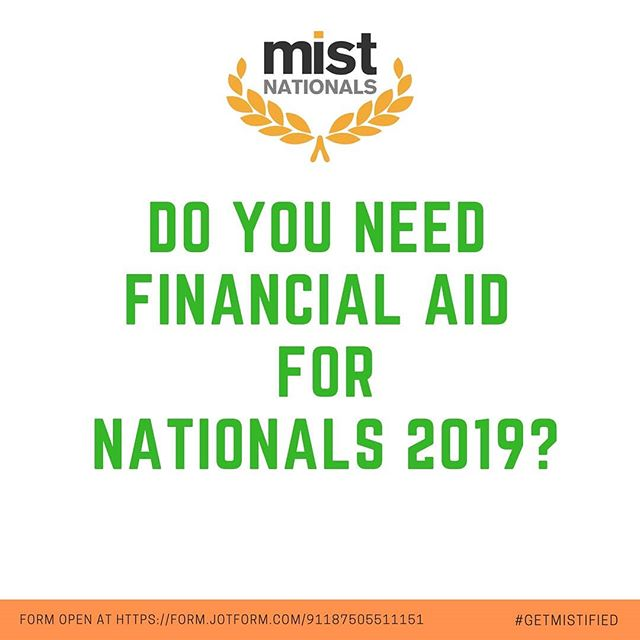 Financial Aid form for Nationals is live!  If interested, fill out the form at: form.jotform.com/91187505511151  #mistdallas #nationals