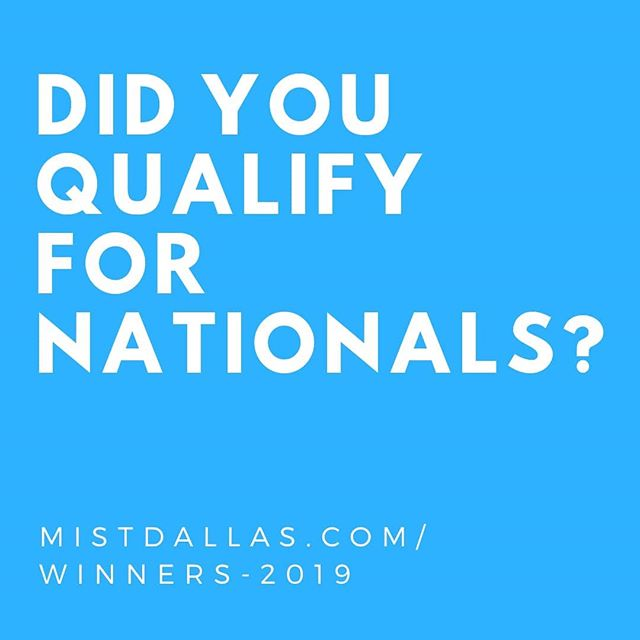 We've kept you waiting, but the final list for National Qualifiers is here.  As we mentioned in the livestream, we made some errors when announcing the winners for some Arts competitions. We sincerely apologize for that.  We have updated the winners list on our website to reflect the correct winners. Please check the winners list to see if you have qualified for Nationals in your competition.  More info on Nationals coming soon!  #mistdallas