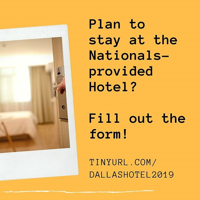 Want to stay at the hotel provided by Nationals? Please fill out the form at  tinyurl.com/dallashotel2019  Anyone wishing to stay at the hotels must fill out the form!  See you all at Nationals Insha Allah!  #mistdallas #Nationals