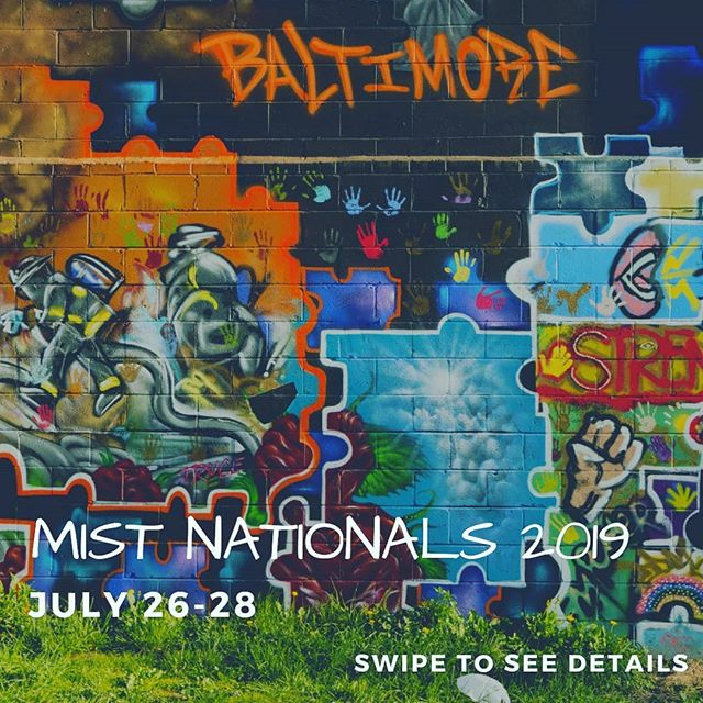 As promised, here are the details for MIST Nationals 2019! Swipe to see info about registration dates, competition deadlines, and more!  You can also find this info at the Nationals website: www.getmistified.com  For any questions, email us at mistdallas@getmistified.com  #mistdallas #nationals