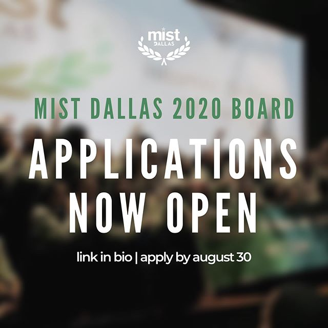 Board applications for MIST 2020 are now open! Past organizers, volunteers, high school graduates - if you are looking to get involved this year, this is a great opportunity!  Applications are due August 30th.  #mistdallas