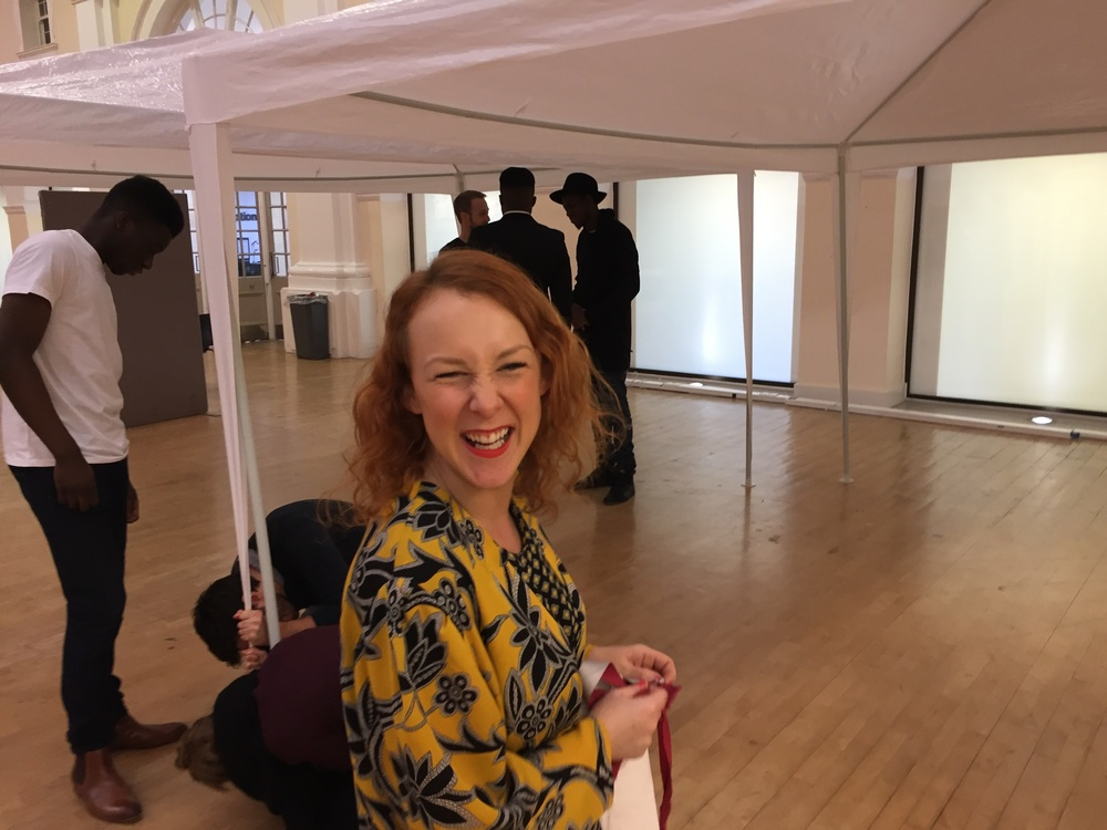 Vicky, the main organiser of this event,looking happy....and we haven't even started the day yet!