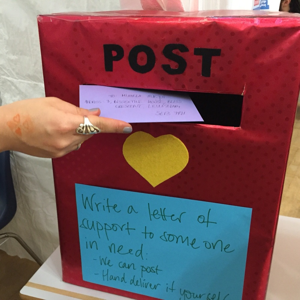 The Museum of Happiness postbox. Royal Mail now has some serious competition.