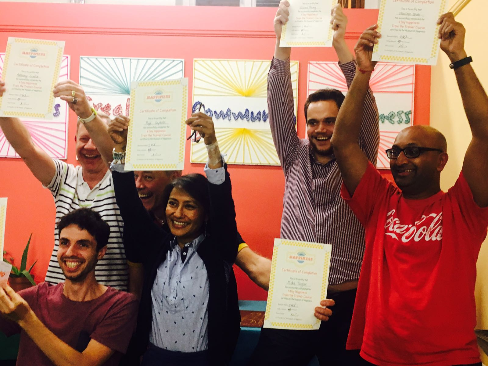 Our newly certified Happiness Train the Trainer graduates