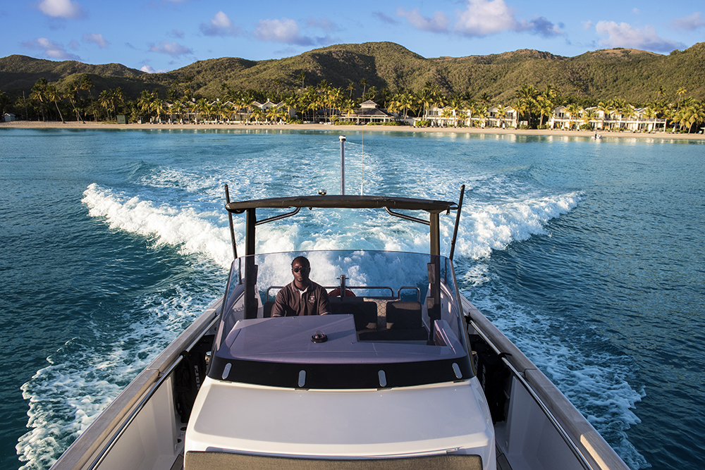 Ride in style... the Fjord 36 Open Exterior at Carlisle Bay