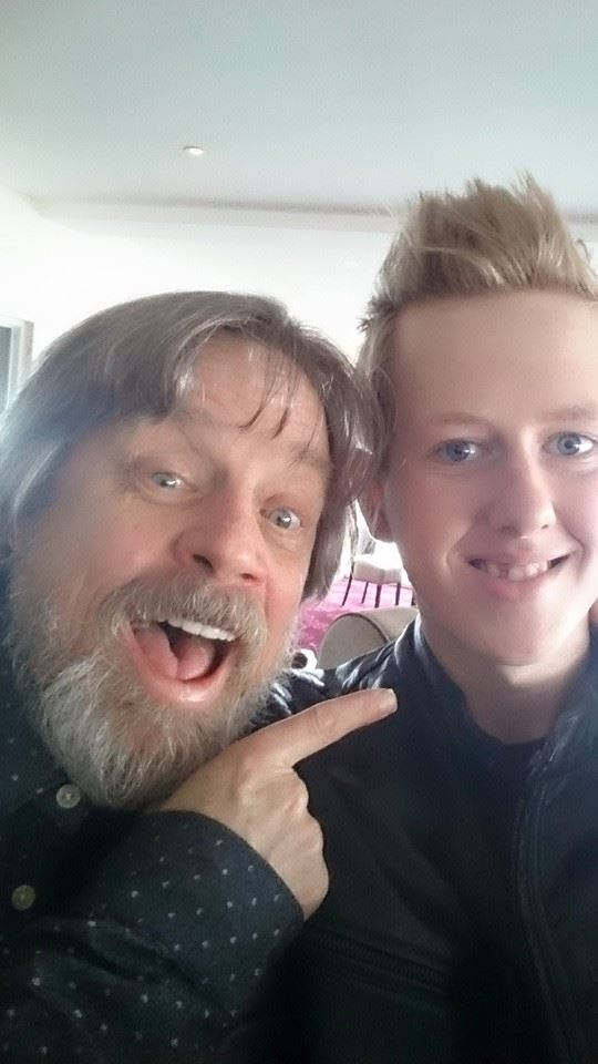 Jamie meets Luke Skywalker (Mark Hamill) in Donegal.