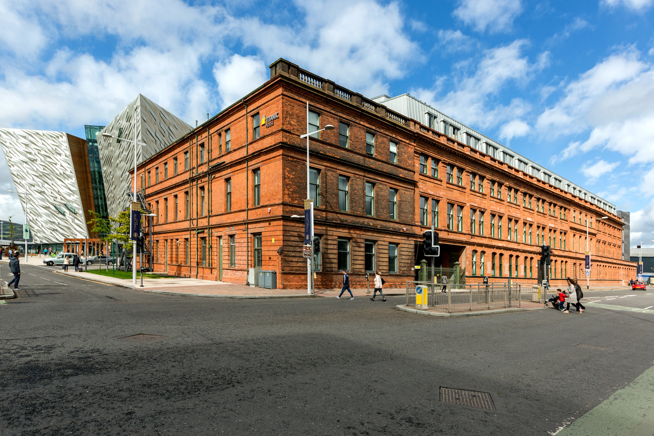 The new Titanic Hotel Belfast next door to the visitor attraction.