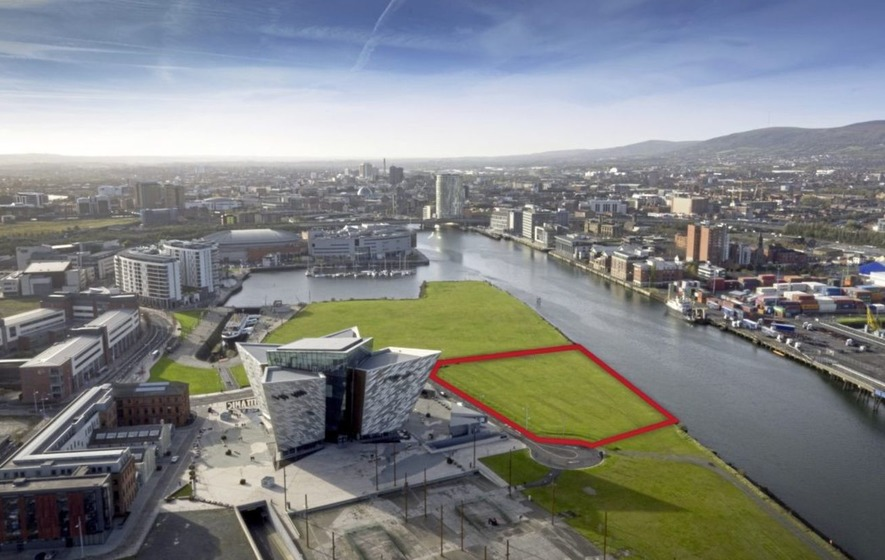 The site is within an area earmarked for the second phase of development of Titanic Quarter.