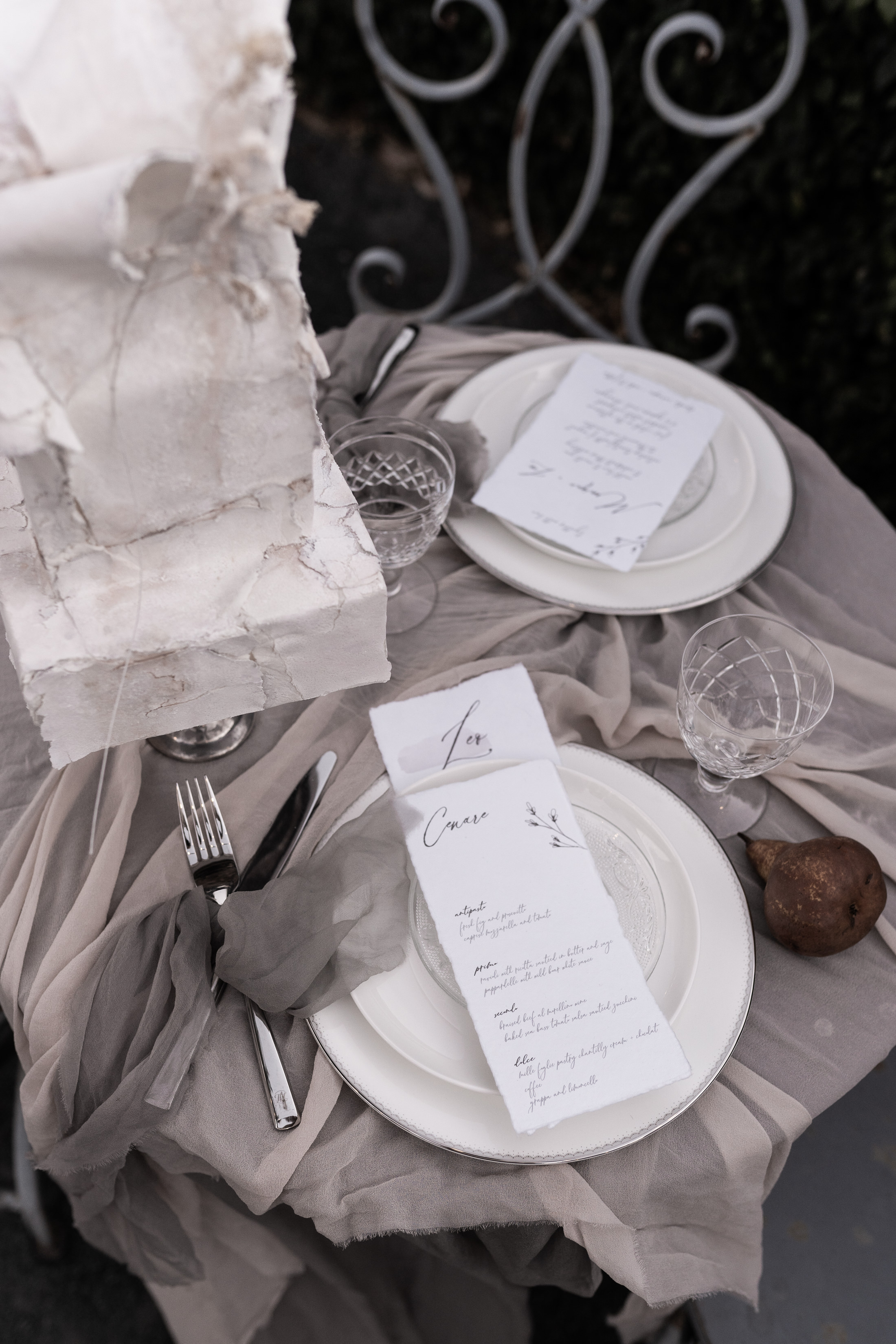 Styled Shoot Table Setting Modern Luxe