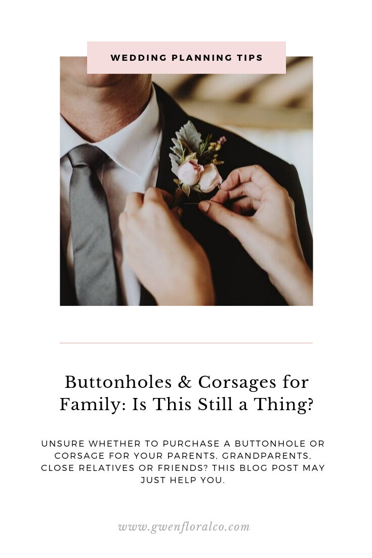 Buttonholes and Corsages for Family Blog Pinterest Graphic