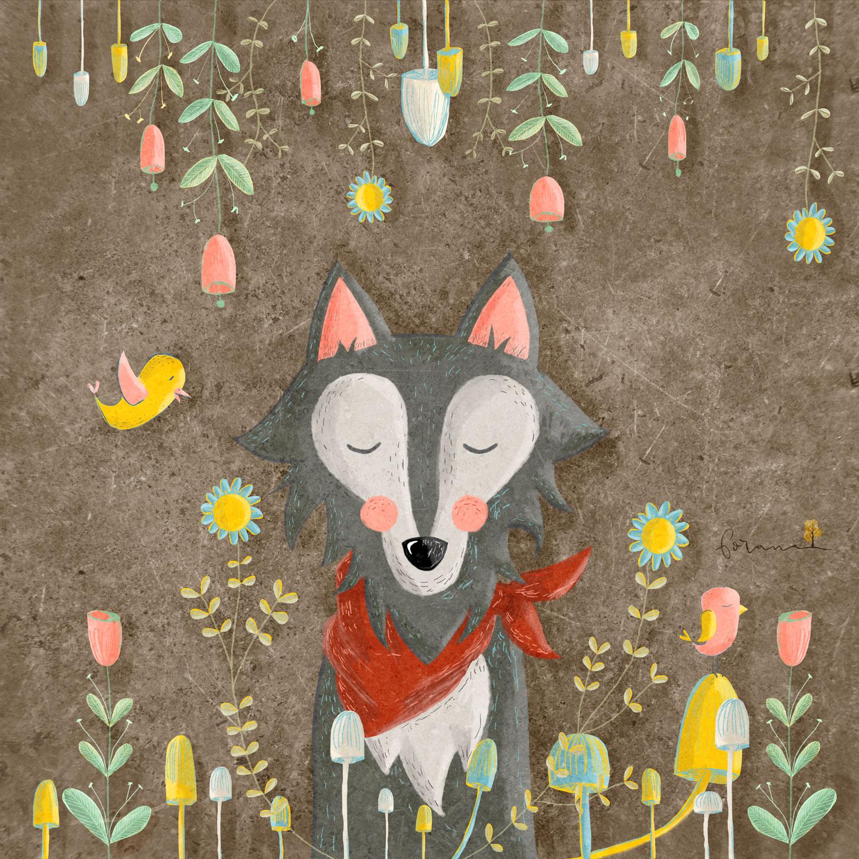 Mein - schöner Photoshop Wolf---Photoshop nach Anleitung von Johanna Fritz