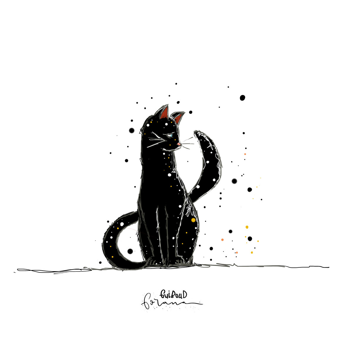 Schwarze Katze - ---Photoshop am iPad mit Apple Pencil