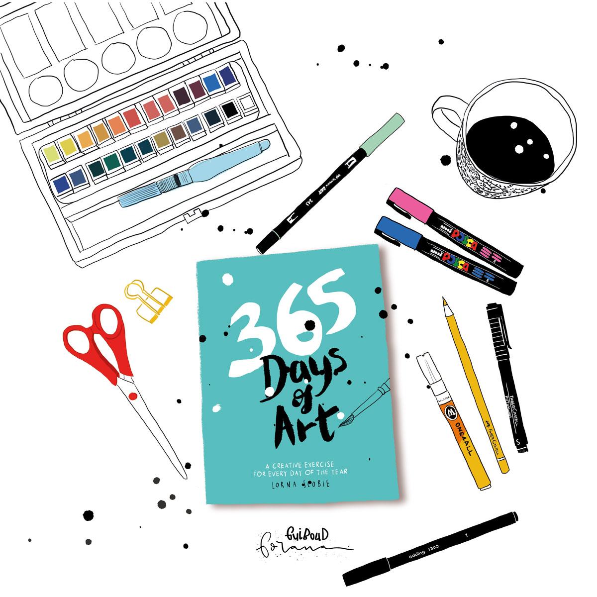 365 days of ART - Tool I currently use---Photoshopam iPad mit Apple Pencil